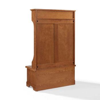 Crosley Furniture Campbell Hall Tree, Oak Finish