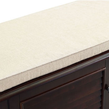 Crosley Furniture Palmetto Entryway Bench, Espresso Finish