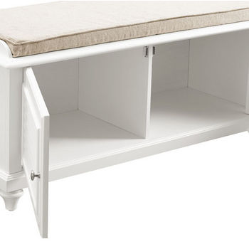 Crosley Furniture Palmetto Entryway Bench, White Finish