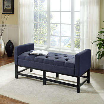 Bench w/ Navy Upholstery Lifestyle View 3