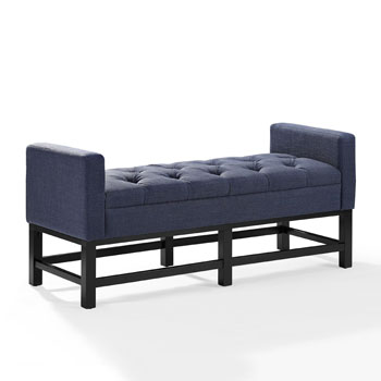 Bench w/ Navy Upholstery Angle View
