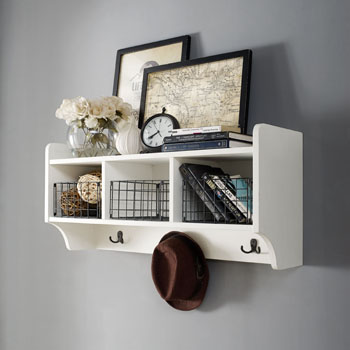 Shelf in Distressed White, Lifestyle View 1