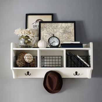 Shelf in Distressed White, Lifestyle View 2