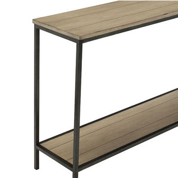 Crosley Furniture Brooke Console Table, Washed Oak Finish