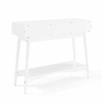 Crosley Furniture Landon Console Table, White Finish, 42''W x 14''D x 32-1/2''H