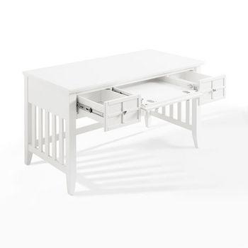 Crosley Furniture Adler Computer Desk, White Finish