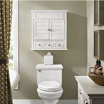Crosley Furniture Lydia Wall Medicine Cabinet 24 1 4 W X 9 D 25 3 H White Finish