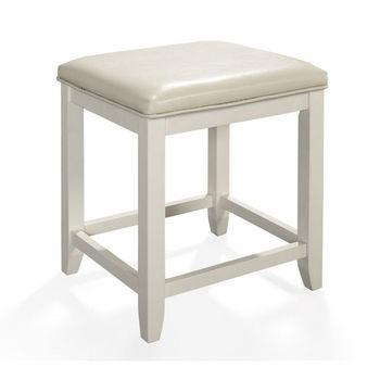 Crosley Furniture Vista Vanity Stool, White Finish