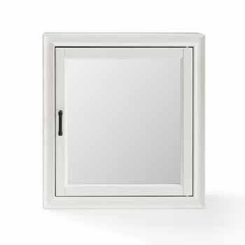 Crosley Furniture Tara Bath Mirror Cabinet, Vintage White Finish, 23-3/4''W x 7-1/2''D x 26''H