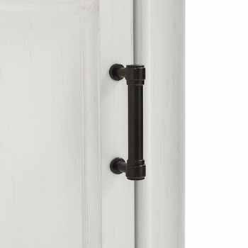 Crosley Furniture Tara Linen Cabinet, Vintage White Finish, 18''W x 15''D x 67-3/4''H
