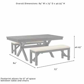 3-Piece Set - Overall Dimensions