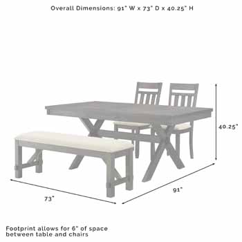 4-Piece Set - Overall Dimensions