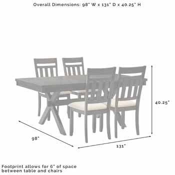 5-Piece Set - Overall Dimensions