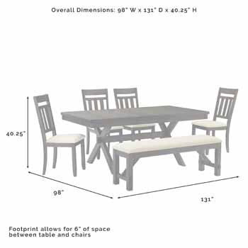 6-Piece Set - Overall Dimensions