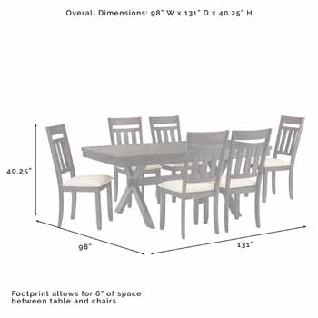 7-Piece Set - Overall Dimensions