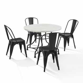 "Display 2 - 40"" 5-Piece Amelia Chairs"