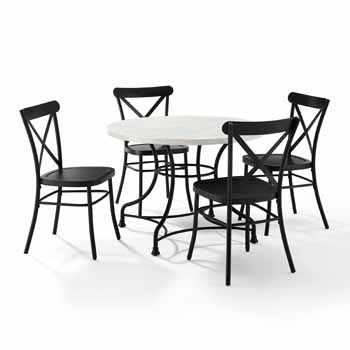 """Display 2 - 40"""" 5-Piece Camille Chairs"""