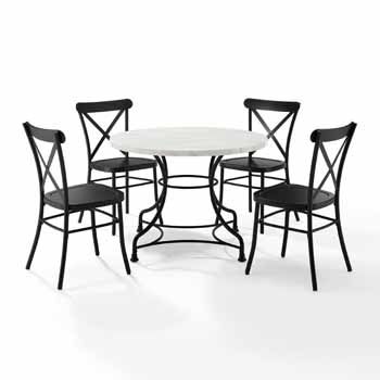 """Display 1 - 40"""" 5-Piece Camille Chairs"""