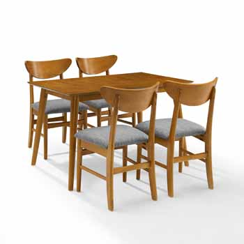 Acorn - Table and 4 Wood Chairs