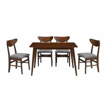 Mahogany - Table and 4 Wood Chairs