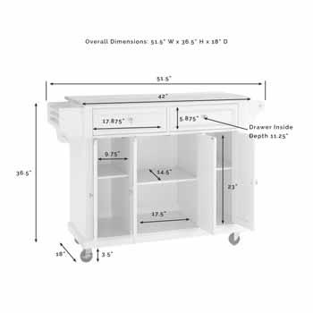 Crosley Furniture Portable Kitchen Cart KitchenSource
