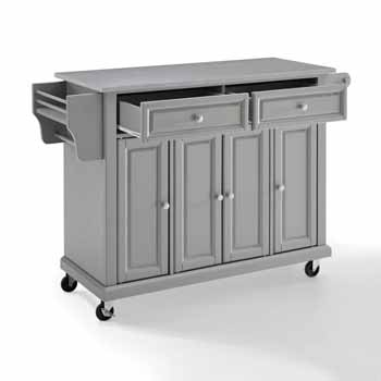 Crosley Furniture Portable Kitchen Cart Stainless Steel Top KitchenSource