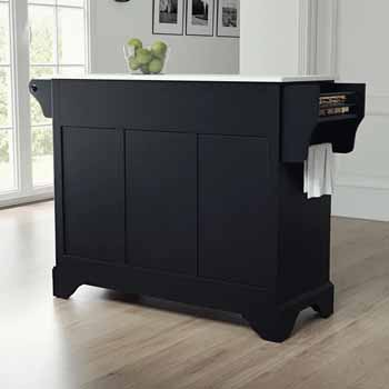 Crosley Furniture Kitchen Island Cart Black Finish KitchenSource