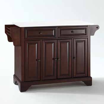 Crosley Furniture Kitchen Island Cart Mahogany Finish KitchenSource