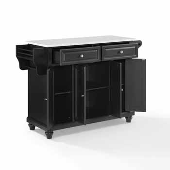 Crosley Furniture Kitchen Island Cart Black Finish KitchenSource