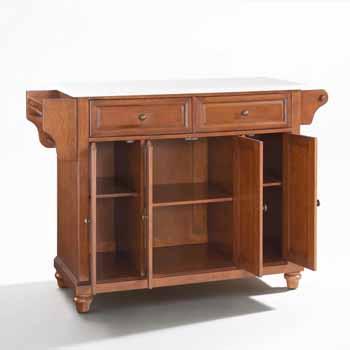 Crosley Furniture Kitchen Island Cart Cherry Finish KitchenSource