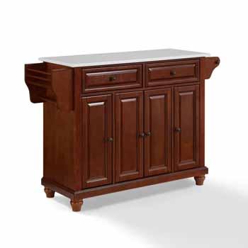 Crosley Furniture Kitchen Island Cart Mahogany Finish KitchenSource