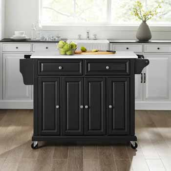 Crosley Furniture Kitchen Cart Black Finish KitchenSource