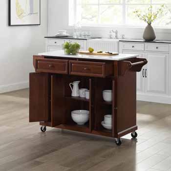 Crosley Furniture Kitchen Cart Mahogany Finish KitchenSource