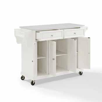 Crosley Furniture Kitchen Cart White Finish KitchenSource