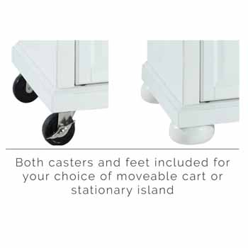 White - Casters and Feet