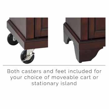 Mahogany - Casters and Feet