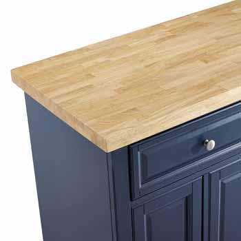 Crosley Furniture Kitchen Island Butcher Block Top KitchenSource