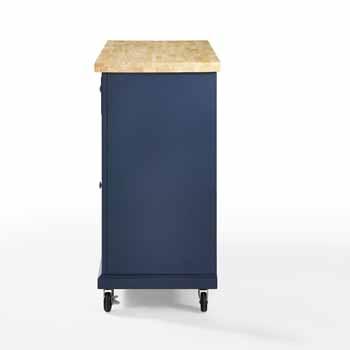 Crosley Furniture Kitchen Island Cart Side KitchenSource