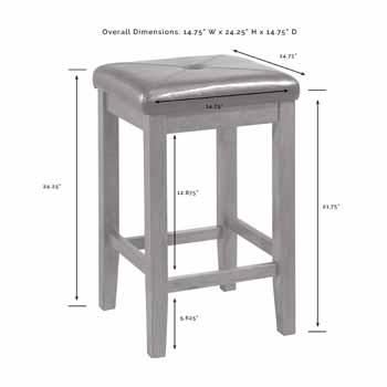 Crosley Furniture Kitchen Island Square Bar Stools KitchenSource