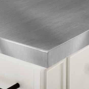 Satinless Steel Top White Base & White Stools