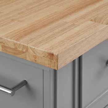 Wooden Top Gray Base & Gray Stools