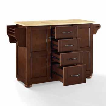 Crosley Furniture Eleanor Kitchen Island Island with Wood Top KitchenSource