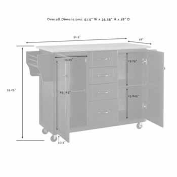 Crosley Furniture Eleanor Kitchen Island Cart KitchenSource