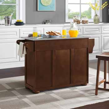Crosley Furniture Eleanor Kitchen Island Island with Stainless Steel Top KitchenSource