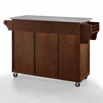 Crosley Furniture Eleanor Kitchen Island Cart with Stainless Steel Top KitchenSource