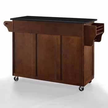 Crosley Furniture Eleanor Kitchen Island Cart with Black Finish Granite Top KitchenSource