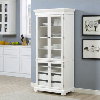 Crosley Furniture Alexandria Kitchen Pantry, White Finish