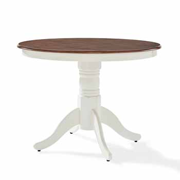 Crosley Furniture Round Pedestal Table Display View KitchenSource