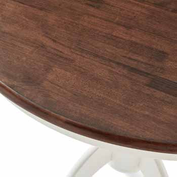 Crosley Furniture Round Pedestal Table Close-up KitchenSource
