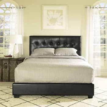 Crosley Furniture Andover Bed Set in Black Leatherette Finish